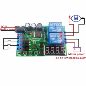 Image 2 - 5V 9V 12V 24V DC/AC Motor Controller Relay Board Forward Reverse Control Automatic Timing Delay Cycle Limit Start Stop Switch