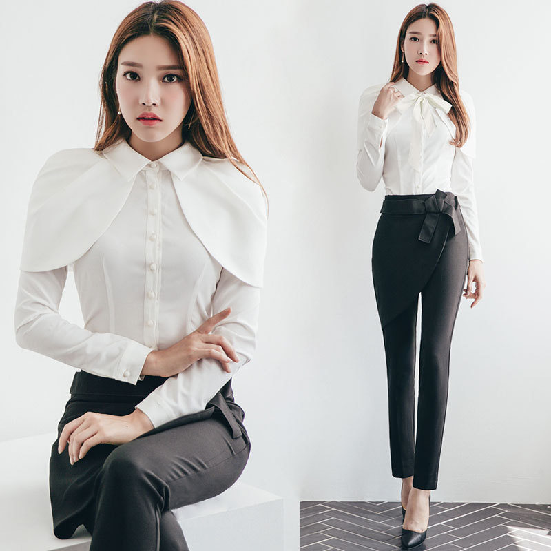 0c587203700 Aliexpress.com : Buy Latest Design White Shits for Women Blouse Cape Collar Female  Blusas OL Lady Tops 2018 Spring Women Clothes RWS175066 from Reliable ...