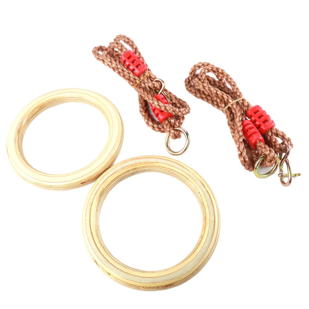 Children Kids Portable Outdoor Indoor Sports Equipment Natural Wooden Handmade Flying Rings Unique Exercise Toys Swing Rings