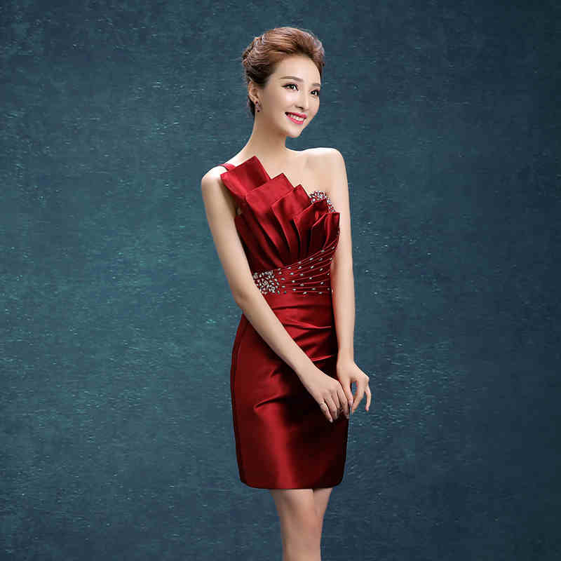 e727b46f5dff8 US $41.99 30% OFF|2019 short evening dress slim fit formal party prom gowns  short evening dress-in Evening Dresses from Weddings & Events on ...