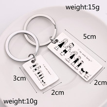 custom Family love KeyChain Customized Name Personalized Pets Engraved For Parents Children Present Keyring Bag Charm gifts(China)