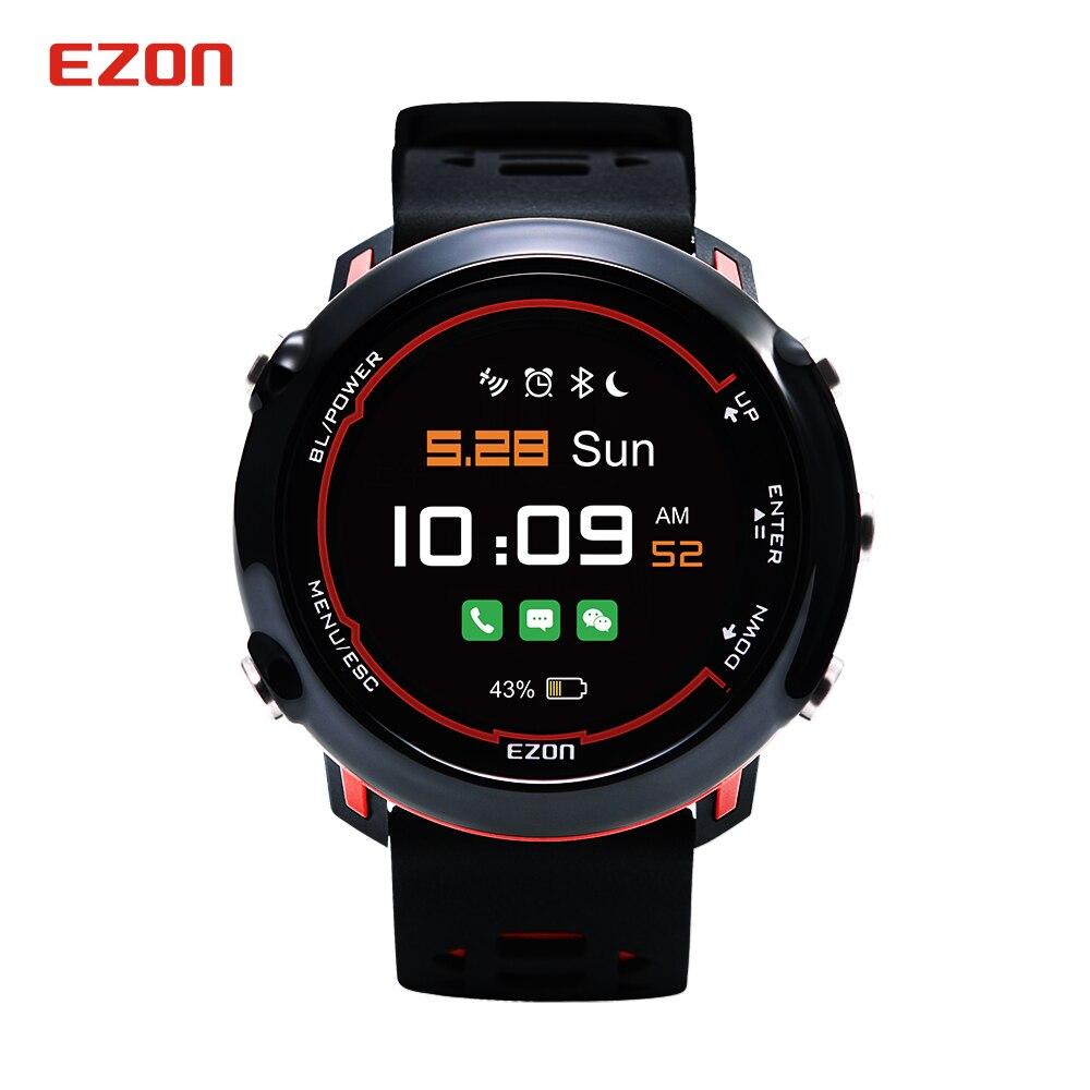EZON Smart Bluetooth 2 GPS Sport Watch Waterproof Optical Heart Rate HD Screen Digital Watch Clock Relogio Masculino Feminino