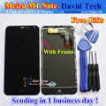 High Quality Touch Screen Digitizer + LCD Display For Meizu M1 Note 5.5 inch Cellphone With Frame Black Color Free Shipping