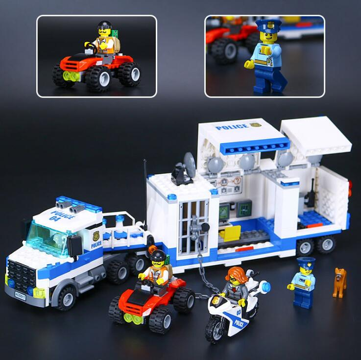 LEPIN City Police Building Blocks Assembling Series Police Car Command Vehicle Bricks Toys  60139 Kids toy police pl 12921jsb 02m
