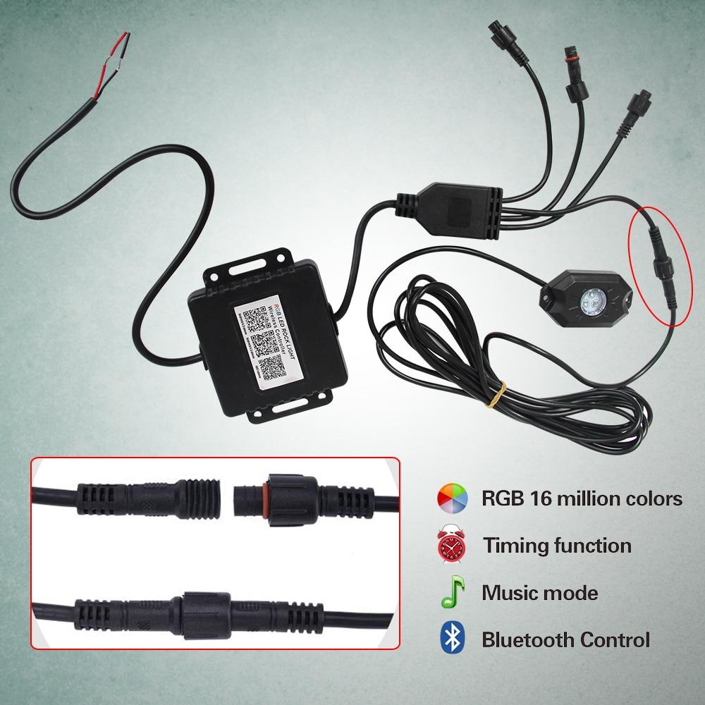 CO LIGHT 4 hüvelyes RGB futófény Bluetooth vezérlővel Távoli - Autó világítás - Fénykép 4