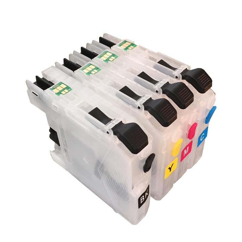 Vilaxh LC121 lc123 многоразовый чернильный картридж для Brother DCP-J552DW/DCP-J752DW/MFC-J470DW/MFC-J650DW с дуговой стружкой