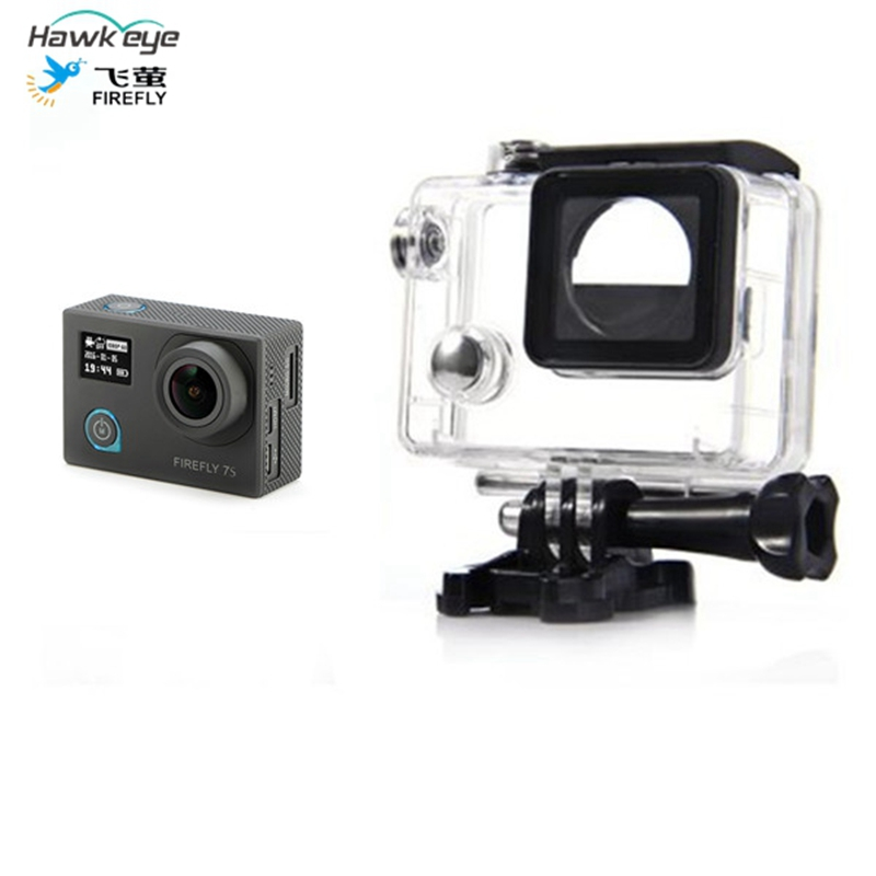 Hawkeye Firefly 7S 8S 4K Sport Action Camera Accessories Spart Part 30M Diving Waterproof Case Plastic Protective Cases Housing
