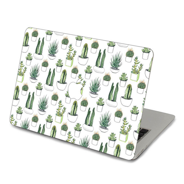 finest selection a77b1 bd2be US $13.99 |Watercolour Cacti And Succulent Top Front Decal Laptop Skin For  Apple Macbook Air Pro Retina 11