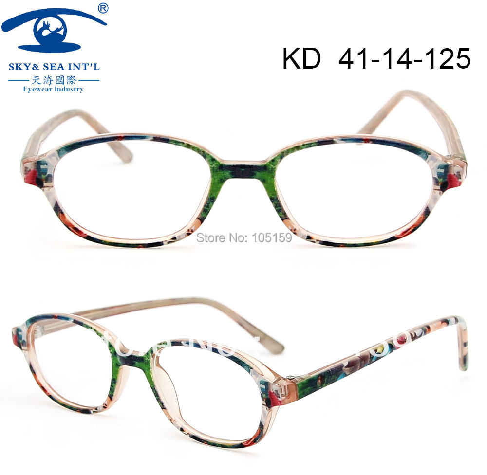 children accessories kids eyewear cute cartoon pattern print fake acetate clear kids glasses frame 2014