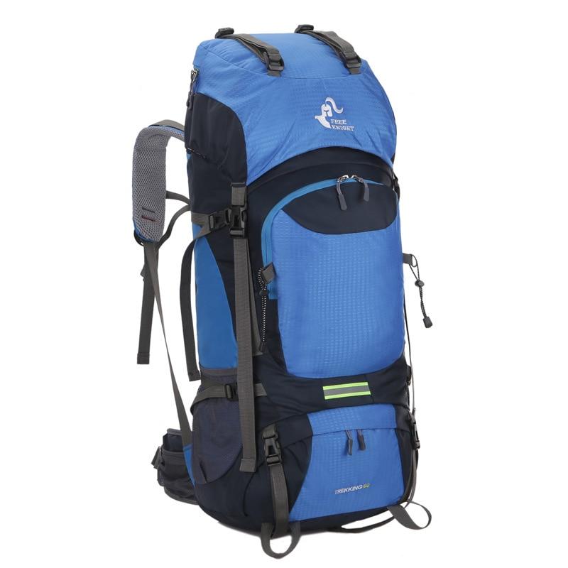 60L Waterproof Climbing Hiking Backpack Rain Cover Bag Camping Mountaineering Backpack Sport Outdoor Bike Bag strong oxygen gazelle 26l backpack outdoor light breathable mountaineering bag double shoulder sport bag