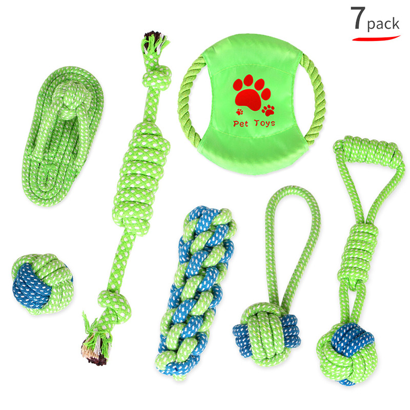 Wholesale 7packs 9packs Pet Toy Products Cotton Rope Toys Cat and Dog Knot Toy Dog Bite Cleaning Toy Suit, Pet Toy-013