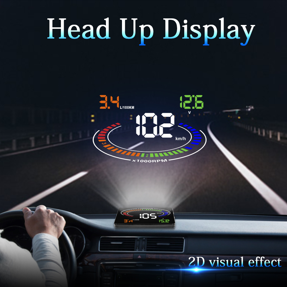 GEYIRE E300 HUD OBD2 Head Up Display Car velocidad proyector OBD UE MPH KM/H Digital Coche velocimetro enel parabrisas Proyector-in Head-up Display from Automobiles & Motorcycles
