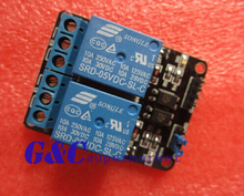 1PCS New 2--Channel 5V Relay Module with optocoupler for PIC ARM DSP AVR