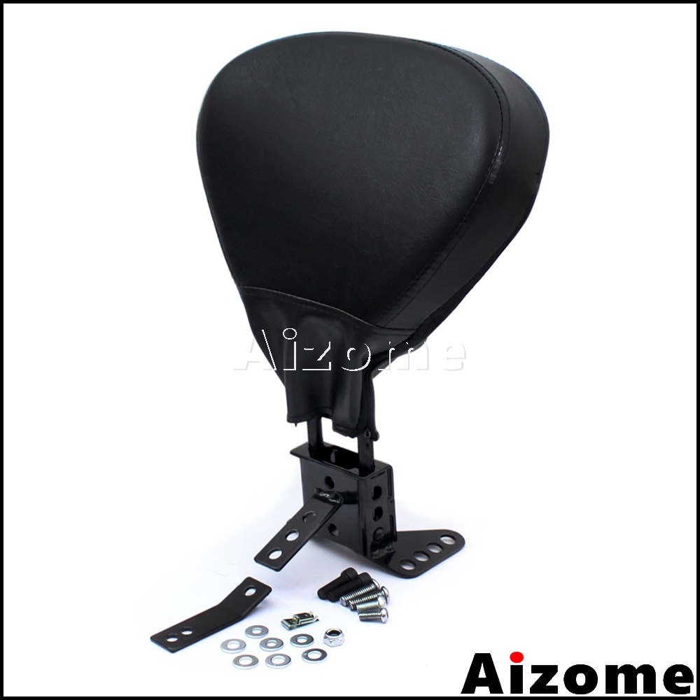 Papanda Black Adjustable Sissy Bar Passenger Driver Rider Backrest For Harley Touring Models 1988-2008 Street Price Covers & Ornamental Mouldings
