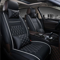 Universal PU Leather car seat cover For HUMMER H2 H3 car styling auto accessories car Stickers carpet 3D Black/Red/White/Beige