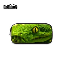 Cute Snake Printing Cosmetic Case Animal Pencil Case For Girls Leopard Eyes Pen Bag For Women