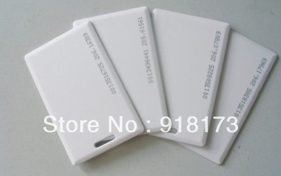 100pcs/lot 125KHz rfid EM ID Thick Card Access Control System card RFID Card with 18 inner code 5pcs lot free shipping outdoor 125khz em id weigand 26 proximity access control rfid card reader with two led lights