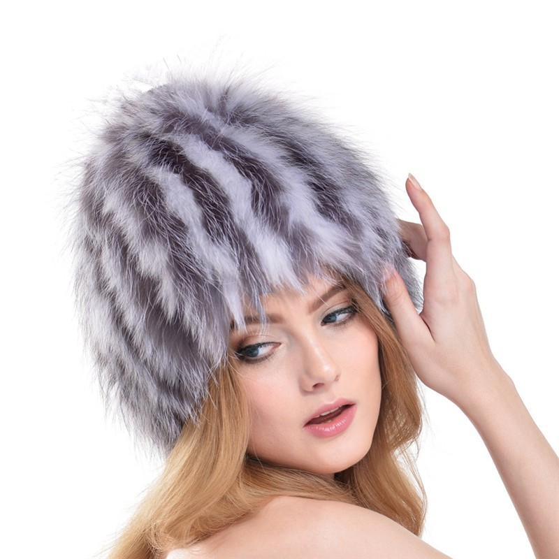 QUEENFUR-Women-Real-Silver-Fox-Fur-Hat-Muticolors-Ladies-Raccoon-Fur-Beanies-Winter-Fox-Fur-Headgear (1)