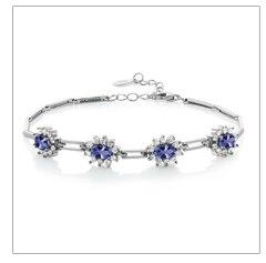 GemStoneKing 1,00 карат 5 мм круглые серьги-гвоздики из танзанита 925 пробы серебряные ювелирные изделия дизайнерский бренд для женщин Свадебные