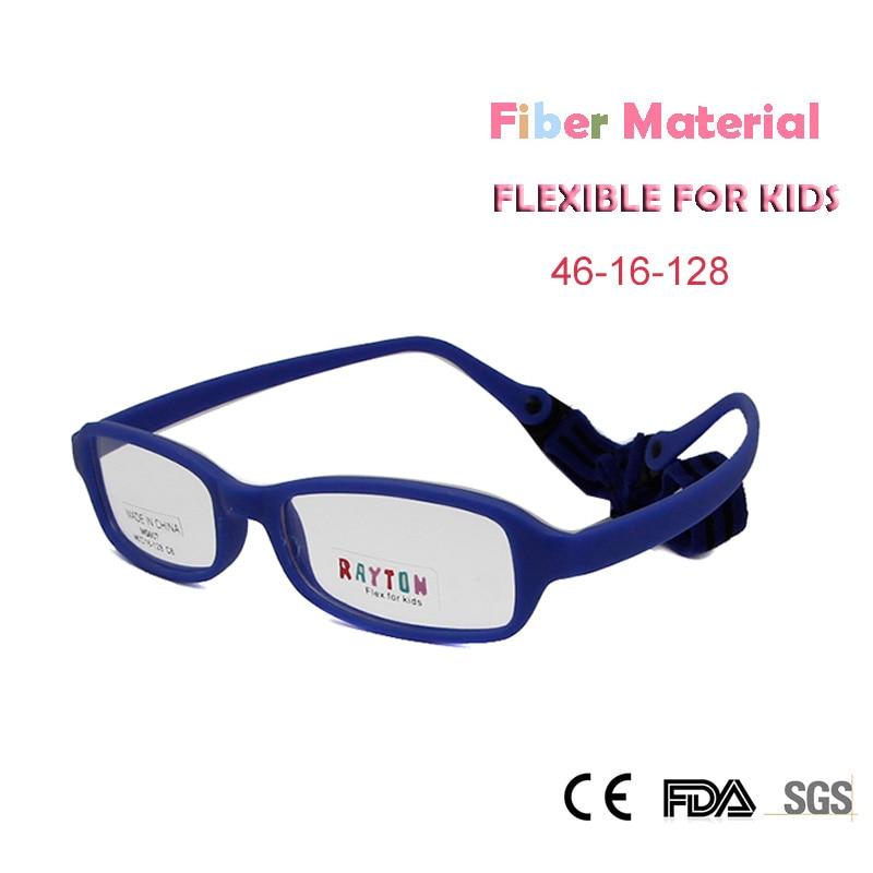 Թեթև քաշի ածխածնային մանրաթելեր մանկական ակնոցներ Տղաներ աղջիկները ճկուն են ոչ պտուտակված երեխաների համար նախատեսված օպտիկական շրջանակի դեղատոմսով ակնոցներ Oculos