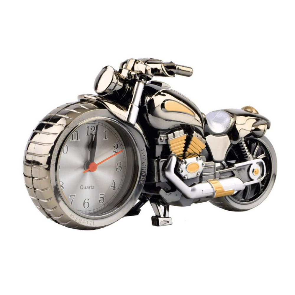 new creative motorcycle motorbike pattern alarm clock desk clock creative home birthday gift cool clock household decorin alarm clocks from home
