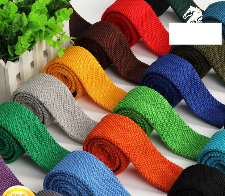 2017 100pcs/lot Knitted Ties New Slim Narrow Neck Tie 5cm Men's Necktie Solid  High Quality Fashion Hot Sale