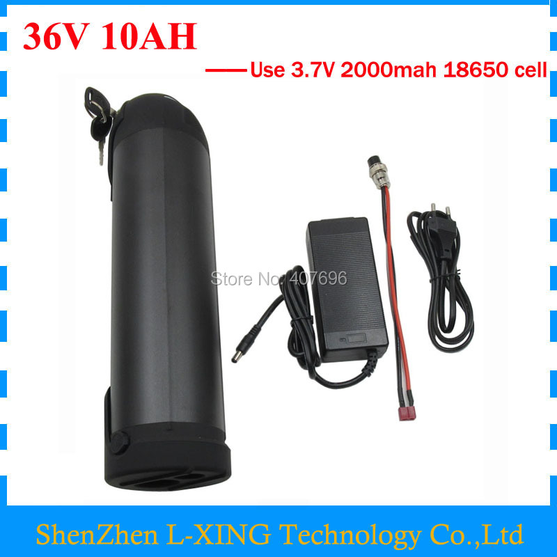 36V 10AH Electric Bike battery 36V 500W Bike battery 36 V 10AH Kettle Battery with 15A BMS 2A Charger Free customs fee free customs tax 36v 500w ebike lithium battery 36v 15ah electric bike down tube bottle battery with charger for samsung cell