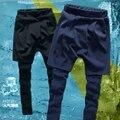 Поддельные Две пьесы Уличная мода мужчины брюки hip hop новое прибытие 2016 Весна бегуны мужской повседневные брюки CH233