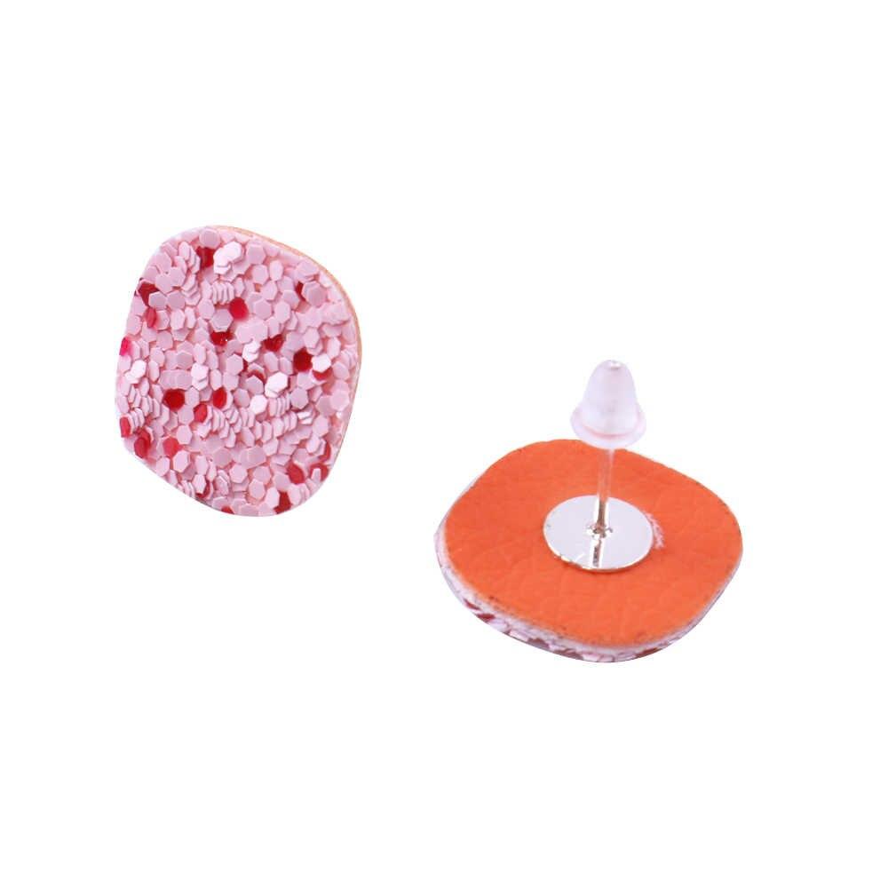 David accessories 2018 Hot Fashion star heart love Glitter Teardrop Leather Earrings DIY Women Jewelry Earring Wholesale,1Yc4132