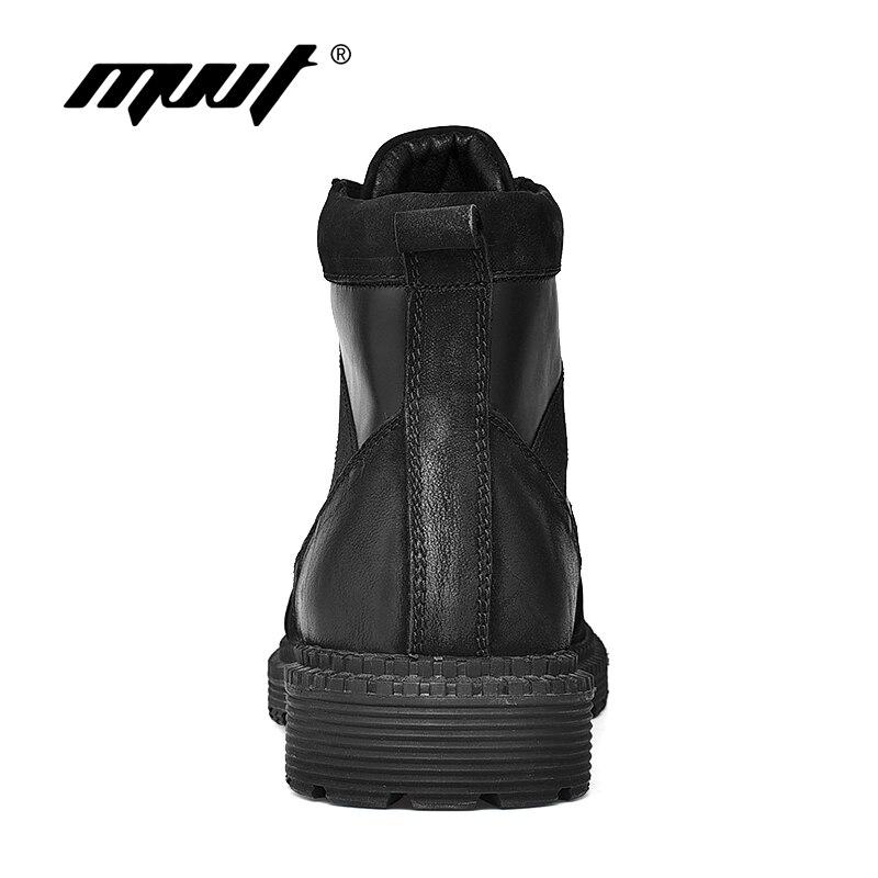 Top Genuíno Homens D' Moda Inverno Prova Ankle À Mvvt Sólida Quente Couro Boots Água Quality De Novas Botas Preto Dos qWwTI8
