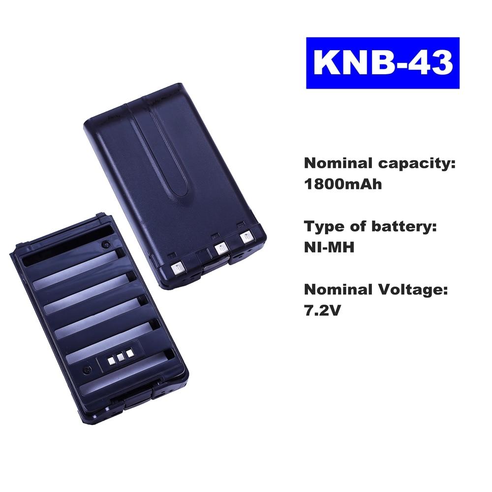 7.2V 1800mAh NI-MH Radio Battery KNB-43 For Kenwood Walkie Talkie TK-K2AT/K4AT/255A  Two Way Radio