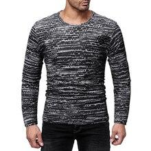 MarKyi desgin hollow o-neck tee shirt homme striped long sleeve hip hop t-shirt for men slim fit