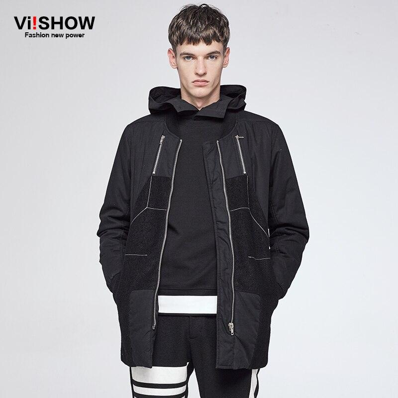 VIISHOW Nuovo Modo di Autunno Bianco Imbottiture Giacca Abbigliamento di Marca Degli Uomini di Alta Qualità di Spessore Uomini Giacca Inverno Caldo Casual Parka MCZ0364