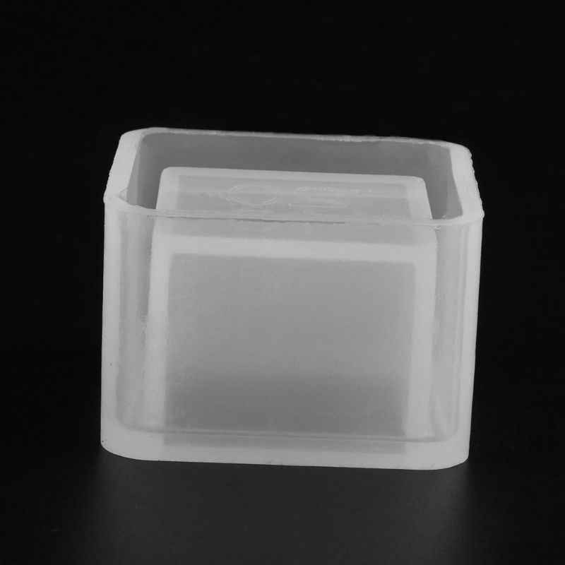 2019 New Cube Flower Pot DIY Silicone Molds Garden Planter Cement Concrete Vase Soap Moulds Garden Supplies