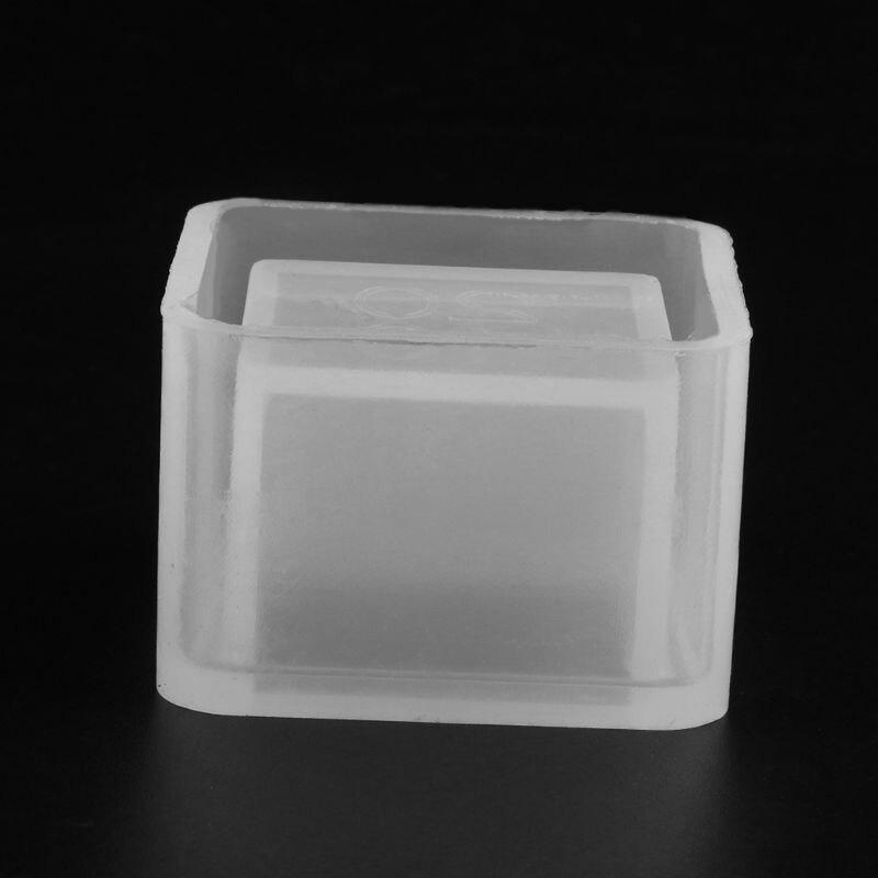 2019 New Cube Flower Pot DIY Silicone Molds Garden Planter Cement Concrete Vase Soap Moulds Garden Supplies