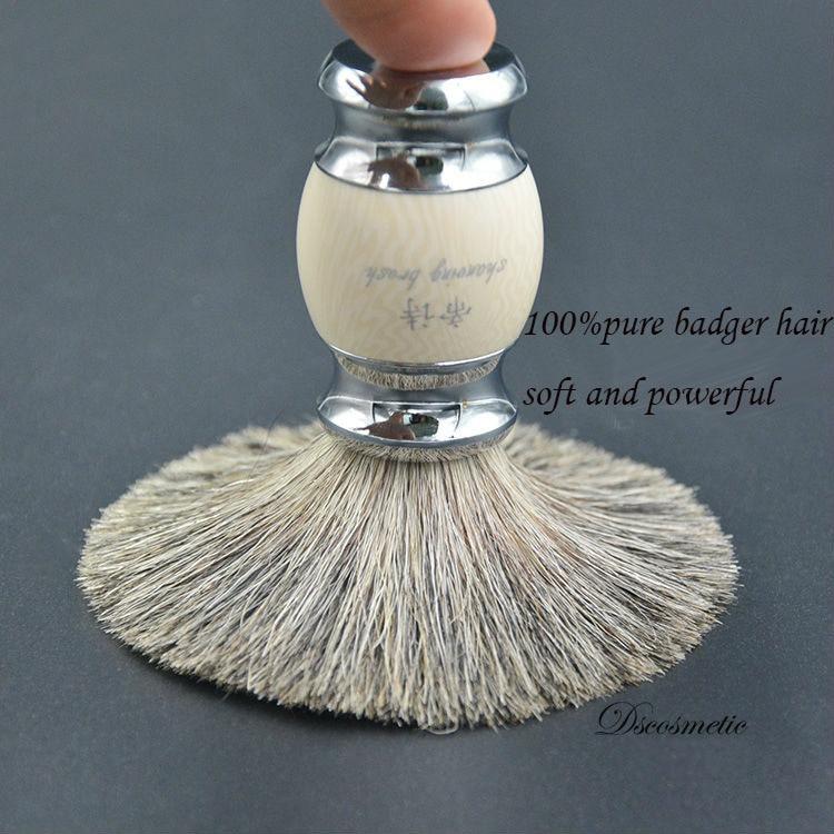 Dscosmetic High Quality Pure Badger Hair Resin Handle  Metal Base  Shaving Brush For Man