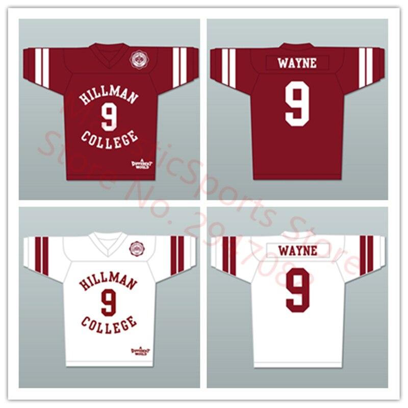 Дуэйн Уэйн 9 Хиллман Колледж белый Футбол Джерси с Театр Орел патч другом мире ...
