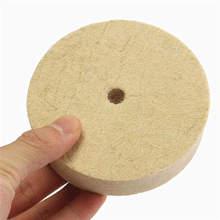 1 шт. 4 дюйма Полировка шлифовальный круг Шерсть Войлок Полировочный диск Pad 100 мм x 20 мм полировальные колодки 4 дюйма