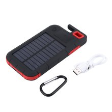 Wopow 20000mAh power bank Universal portable Solar Charger Dual USB External Charger Battery PowerBank with LED light outdoor