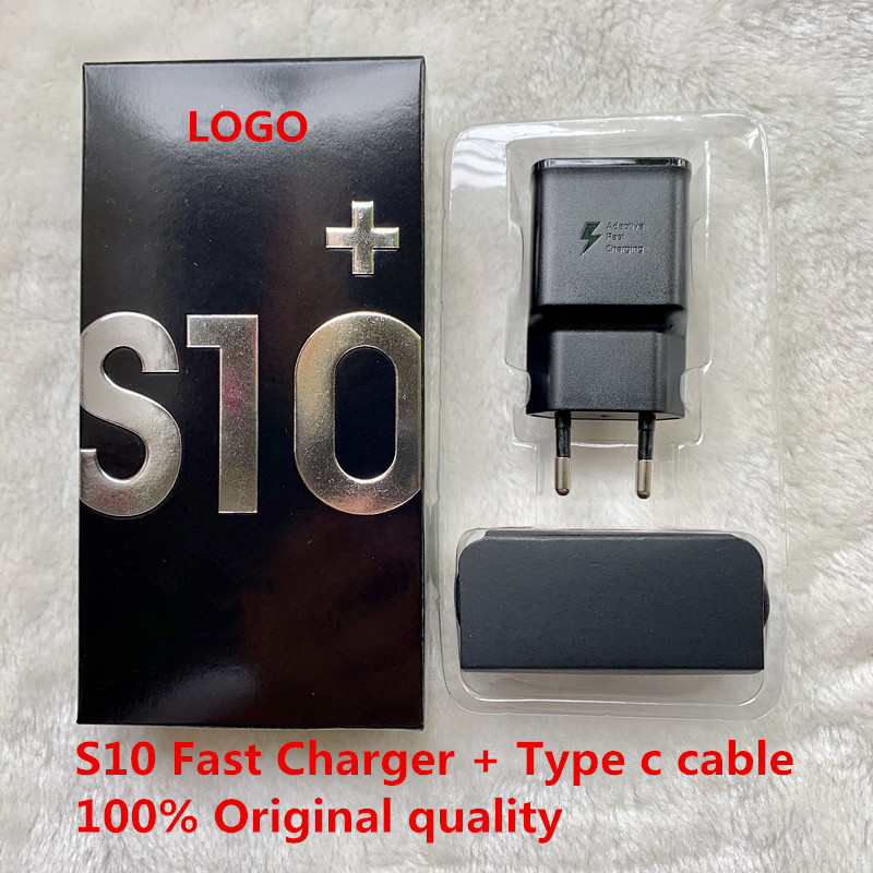 Original For Samsung Adaptive S10 Fast Charger USB Quick Adapter 100CM TYPE C Cable For Galaxy