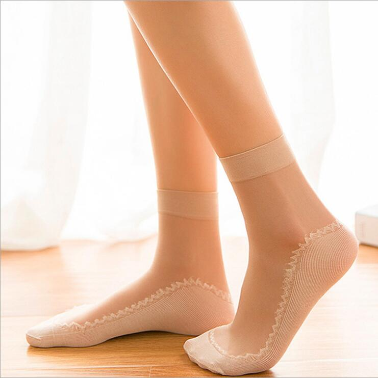 Free Shpping 2019 Breathable Socks Women Ultra Thin Short Style Cotton Core Silk   7410# Size Free Size