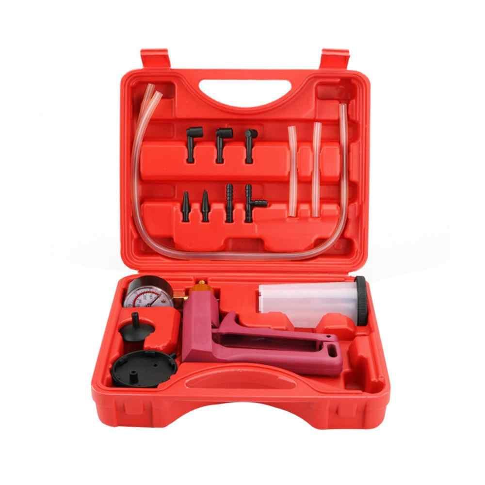 Kit de testeur de pompe à pistolet à vide Auto pompe à huile pistolet Kits d'outils purgeur de liquide de frein Kit de luxe de voiture tenu dans la main wasserpumpe #15