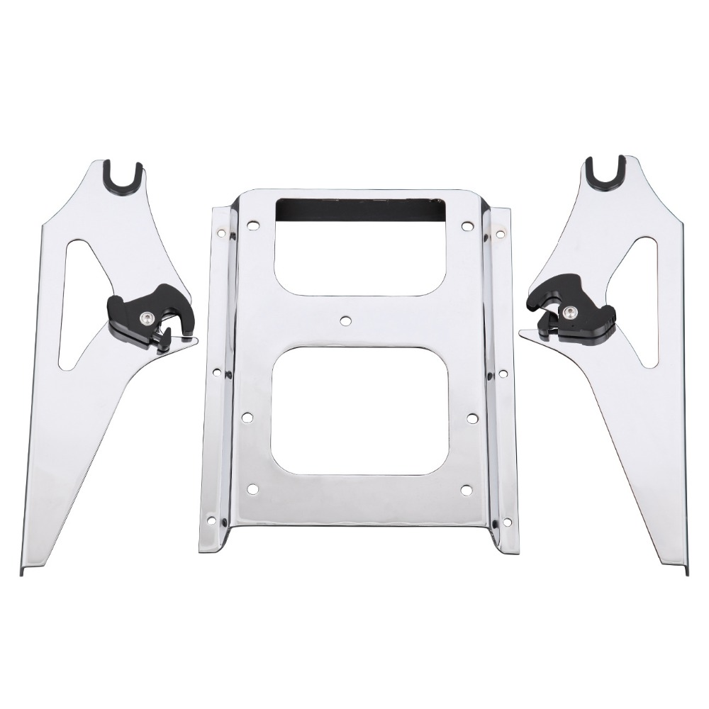 (Shipping From US )Motorcycle Two Up Tour Pak Mounting Luggage Rack motor For Harley Davidson Touring 2009-2013 FLHR 2 up tour pak mounting luggage rack for harley touring flhr flht flhx fltr 14 16