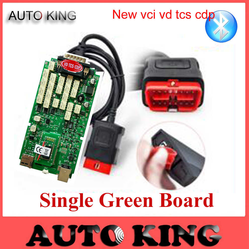 Цена за Best качество 2015.1 одного Зеленый печатной платы VD TCS CDP PRO с Bluetooth для грузовых автомобилей OBD2 Диагностический Сканер Бесплатная Доставка