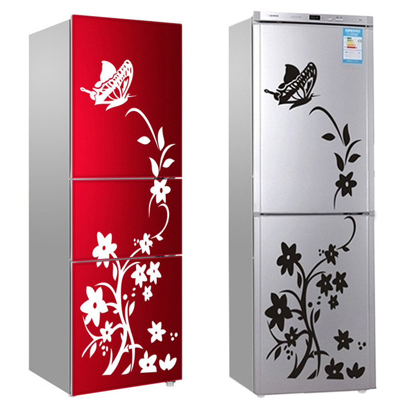 High Quality Wall Sticker Refrigerator Sticker Butterfly Pattern Wall Stickers Home Decor Wallpaper Bedroom Decor Free Shipping in Wall Stickers from Home Garden