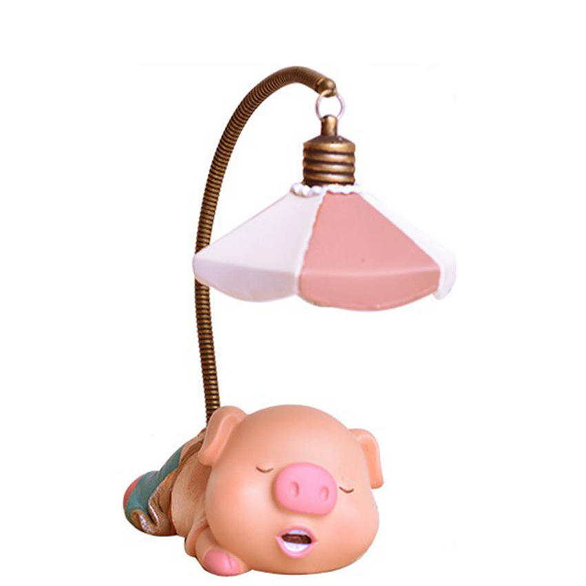 Cute Piggy Toothless Table Beside Lights Children Creative Cartoon LED Desk Lamp Primary School Students Charge Eye Learning clock table model teacher demonstration with primary school mathematics science and education equipment three needle linkage