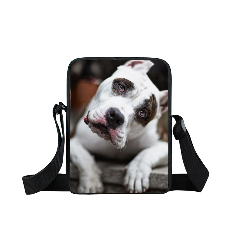 Animal Printing Mini Messenger Bag Women Handbag Dog Crazy Horse Children Book Bag Bulldog Kids School Bags Tiger Gift Bags