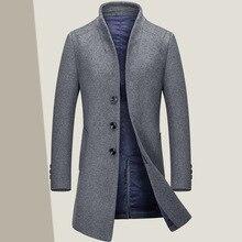 Осень и зима новый мужской длинный шерстяное пальто