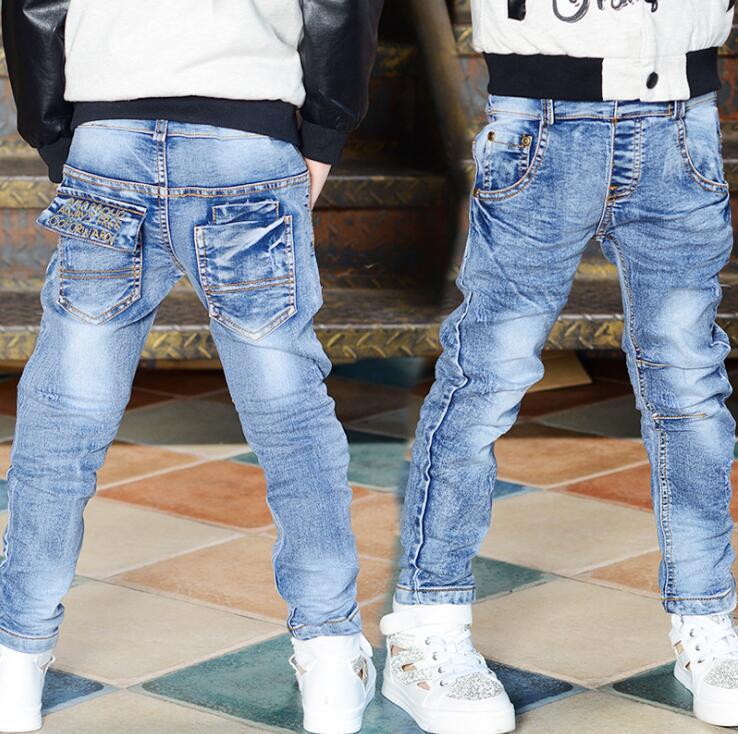 2019 Frühling Herbst Jungen Dünne Jeans Mode Kinder Elastische Stil Jeans Lange Blau Denim Jeans Kinder Hosen Jungen Clohtes Bequem Zu Kochen