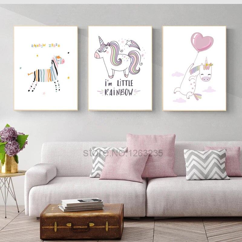 Cute Baby Girl Nursery Ideas: Unicorn Balloon Baby Girl Room Decor Pictures Cute Zebra